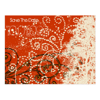 Save the Date- Tree Swirls Post Card