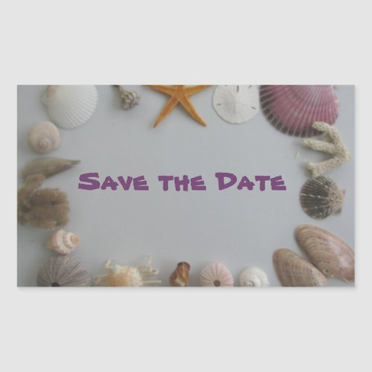 Save the Date/Tropical Destination Rectangular Sticker