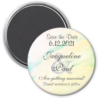 Save the Date Tropical Watercolor Magnets