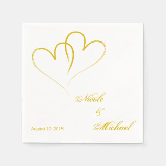 Save The Date - Two hearts intertwined Paper Napkins