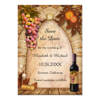 Save the Date Vineyard Photo Wedding Invitation
