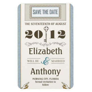 save the date vintage chic smart magnets