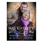 Save the Date Vintage Photo Postcard