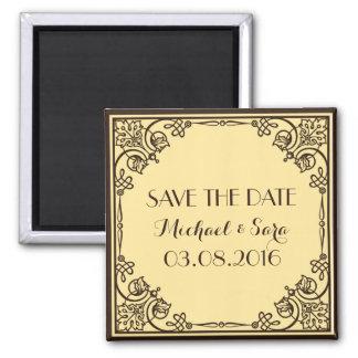 Save The Date Vintage Wedding Magnet