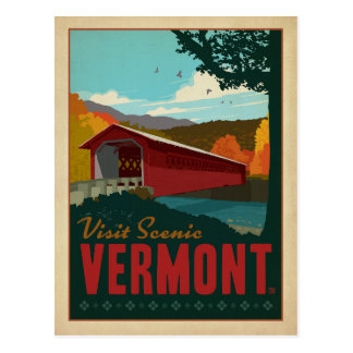 Save the Date -Visit Scenic Vermont Postcard