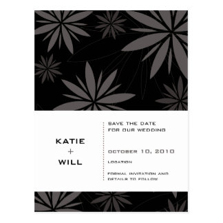 SAVE THE DATE :: vitality black Postcard