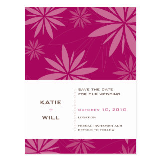 SAVE THE DATE :: vitality fuschia Postcard