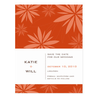 SAVE THE DATE :: vitality rust Postcard