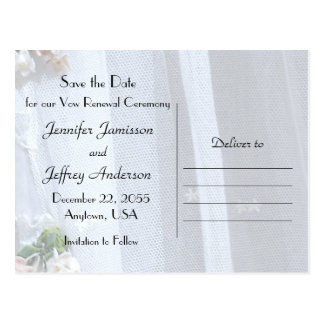 Save the Date, Vow Renewal Ceremony, Announcement Postcard