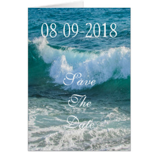 Save The Date Wave Sea Shore Nautical Ocean Nature Greeting Card