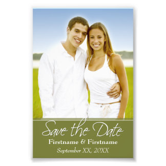 Save the Date - Wedding - 4 x 6 Photo Print