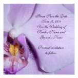 Save the date Wedding announcement orchid