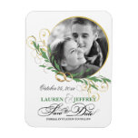 Save the Date Wedding Announcement Stick-on Magnet
