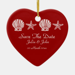 themed save the dates christmas decorations zazzle co uk