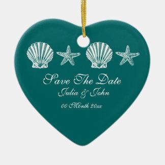 Save The Date wedding beach theme announcement Christmas Ornament