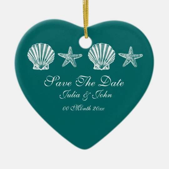 Save The Date wedding beach theme announcement Christmas