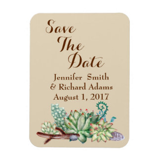 Save The Date Wedding Cactus Succulents Magnet