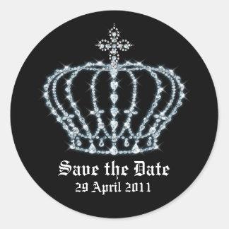 Save the Date Wedding Envelope Seal Round Sticker