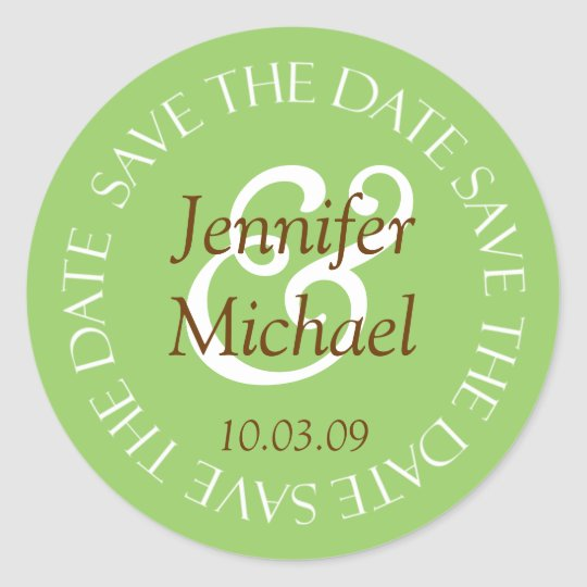 Save The Date Wedding Envelope Seal Stickers