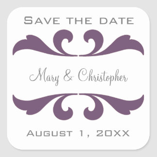 Save The Date Wedding Envelope Seals and Stickers