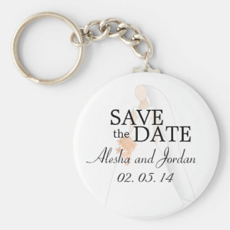 Save the Date Wedding Key Chain Bride