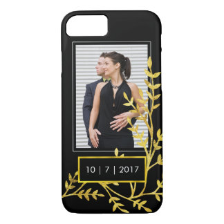 Save the Date Wedding or Engagement Photo Template iPhone 7 Case