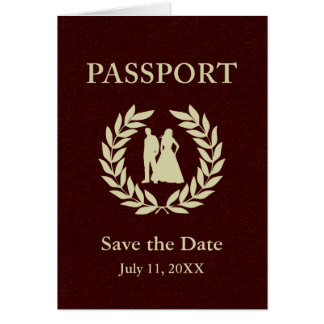 save the date wedding passport card