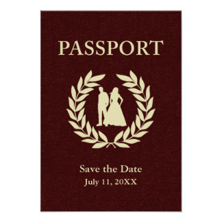 save the date wedding passport invites