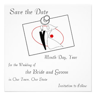 Save the Date Wedding Post-it Personalized Invites