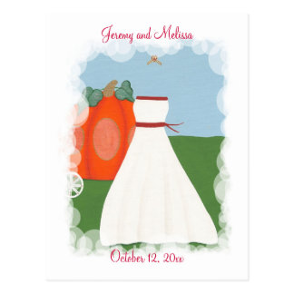 Save The Date Wedding Postcards, Princess Bride Postcard