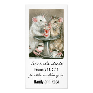 Save the Date Wedding Rat Photo Card