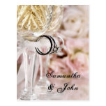 Save the Date - Wedding Rings Postcard