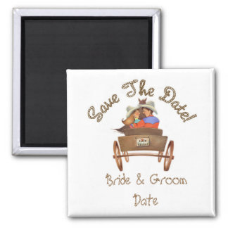 Save the Date WESTERN Wedding Magnets Refrigerator Magnets