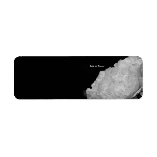 Save the Date White Rose Label Return Address Label