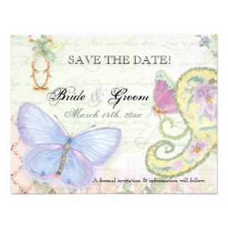 Save the Date - Wings of Love Wedding Collection Custom Invite
