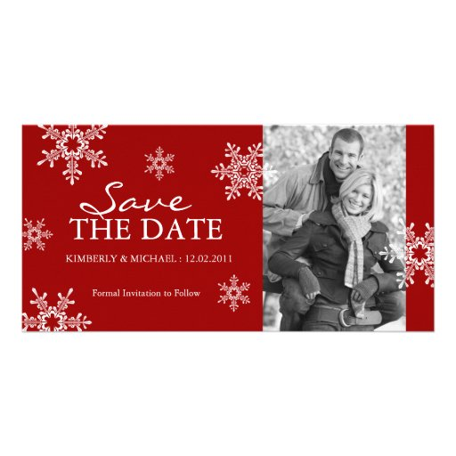 Save the Date - Winter Wedding Photo Cards