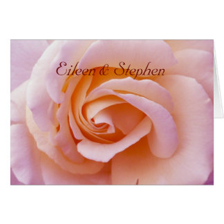 Save the date with Pink and Peach Garden Rose Card