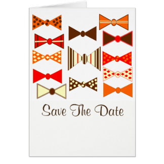 Save The Date With Retro Style Card
