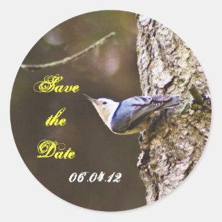 Save The Date Woodpecker Sticker
