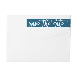 Save the date wraparound address label