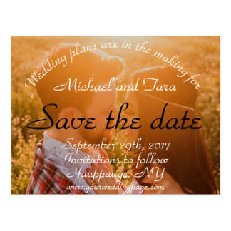 Save the Date Your Photo Postcard