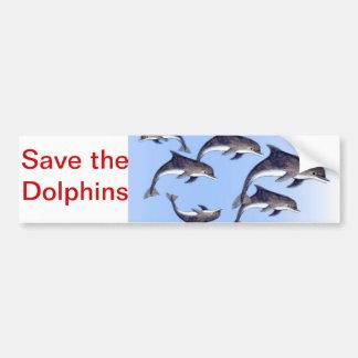 Save the Dolphin Bumper Sticker Car Bumper Sticker
