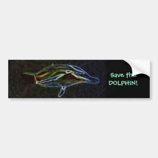 Save The Dolphin bumper sticker