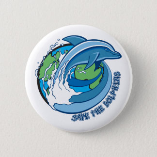 Save the Dolphins 6 Cm Round Badge