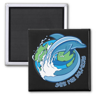 Save the Dolphins Refrigerator Magnet