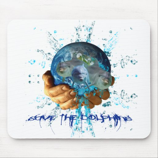 Save the Dolphins Mousepads