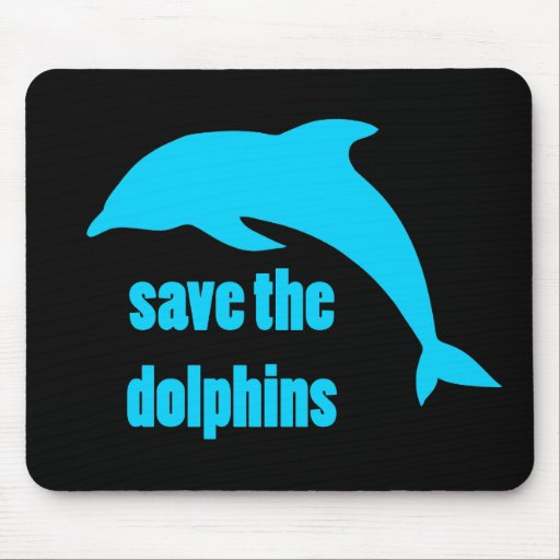 Save the Dolphins Mouse Pad