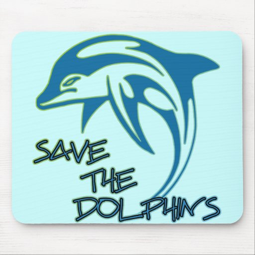Save The Dolphins Mouse Pads