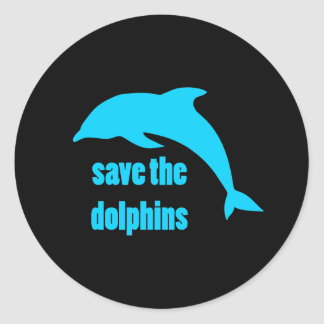Save the Dolphins Round Sticker