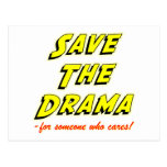Save the Drama Breakup Card Post Cards